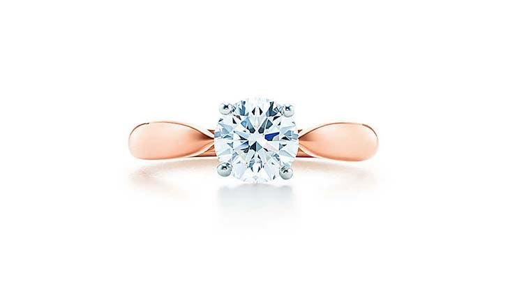 tiffany harmony 18k rose gold engagement ring