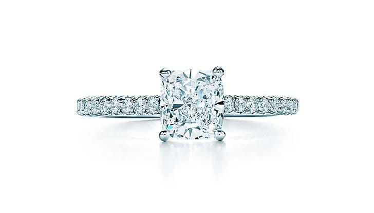 tiffany novo cushion cut engagement ring