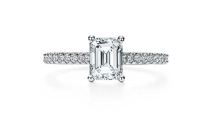 tiffany novo emerald cut engagement ring