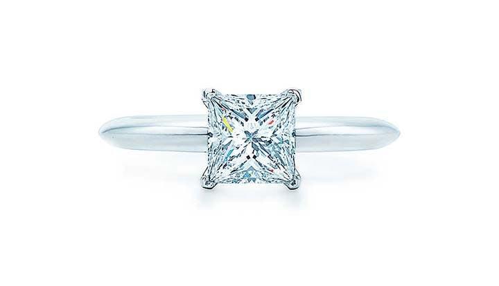 tiffany princess cut diamond engagement ring