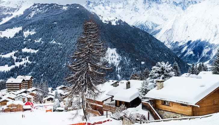 verbier switzerland in winter