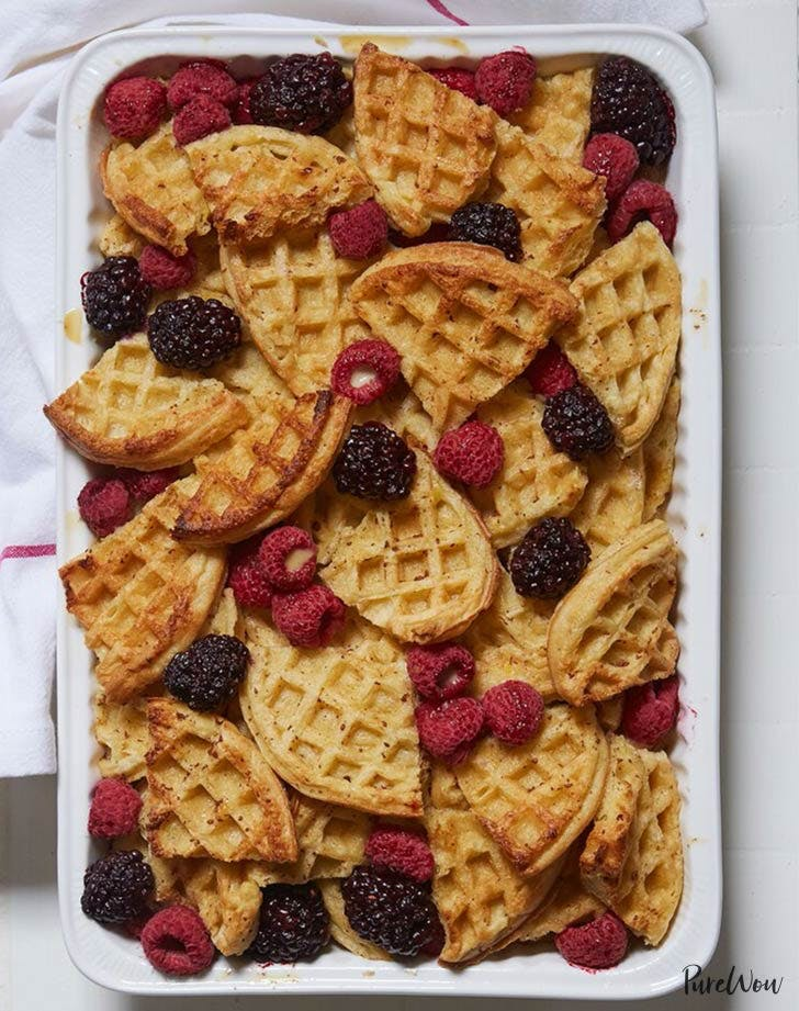 waffle bread pudding holiday breakfasts