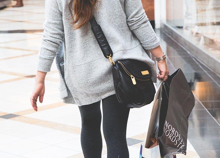 woman shopping nordstrom bag