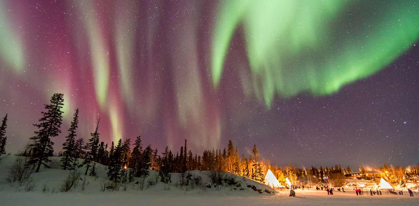 yellow knife canada northern lights