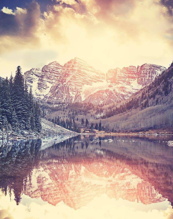 Aspen  Colorado in winter