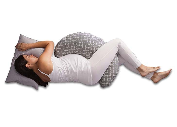 Boppy Pregnancy Support Pillow sleeping woman