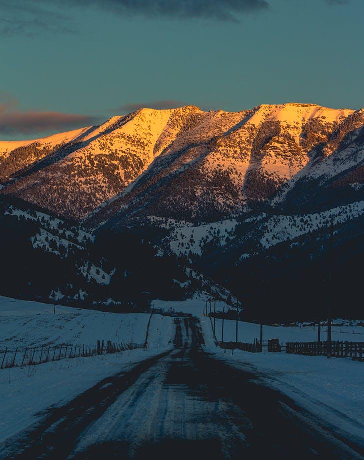 Bozeman  Montana in winter