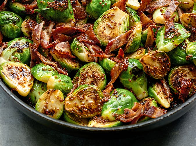 Dorie Greenspan s Maple Syrup and Mustard Brussels Sprouts recipe