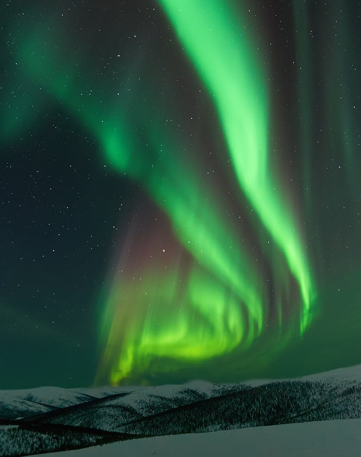 Fairbanks  Alaska in winter