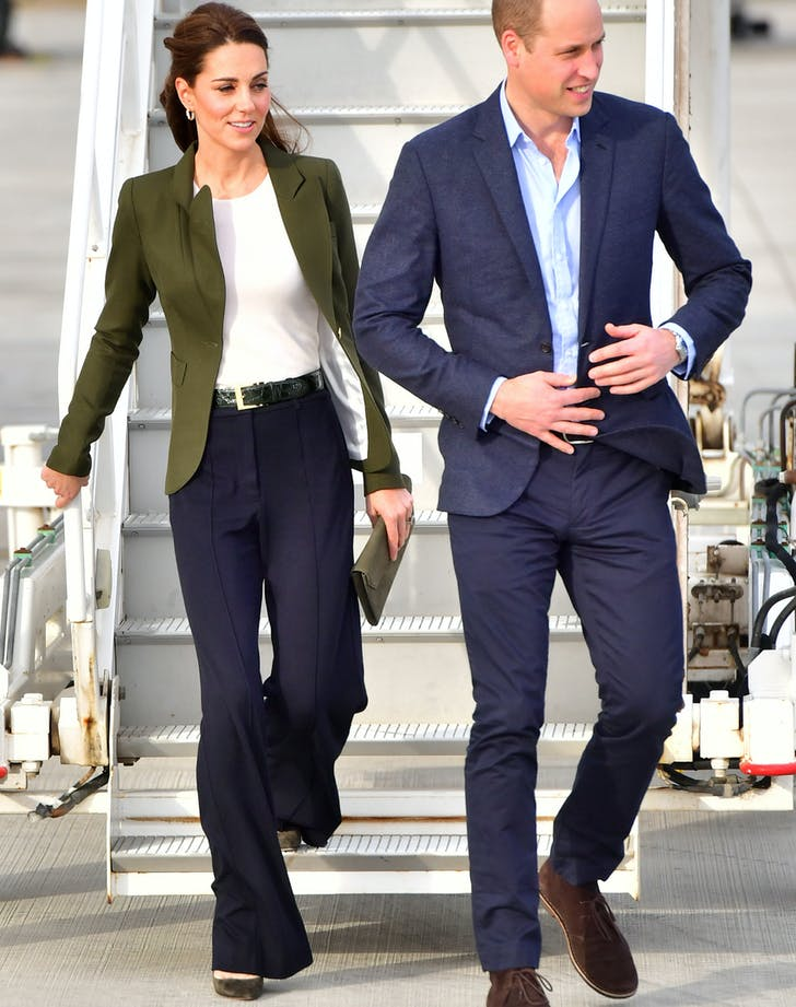 Kate Middleton wearing wide legged pants