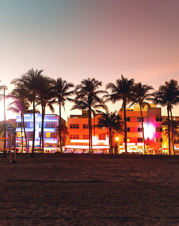 Miami  Florida in winter