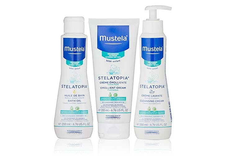Mustela baby bath products