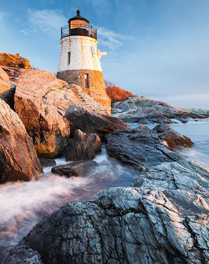 Newport  Rhode Island in winter