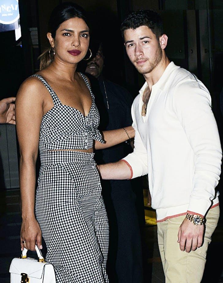 Nick Jonas Priyanka Chopra gingham.l