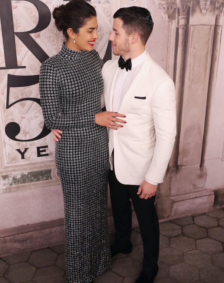 Nick Jonas and Priyanka Chopra at Ralph Lauren