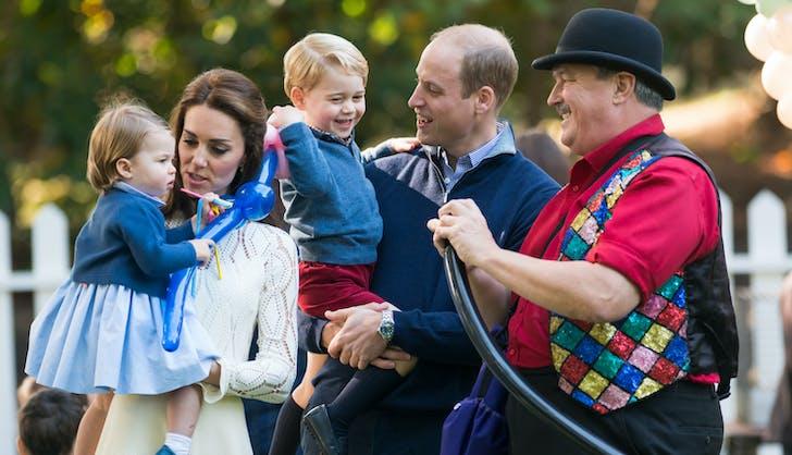 Prince George and balloon animal