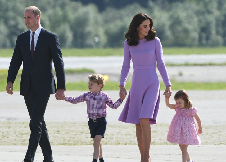 Prince William leading his family