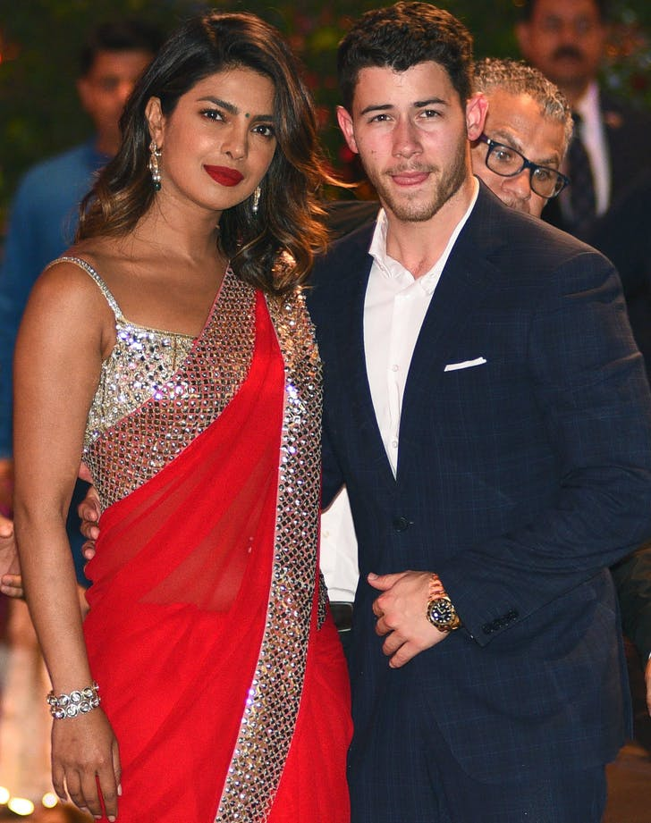 Priyanka Chopra and Nick Jonas at wedding in India