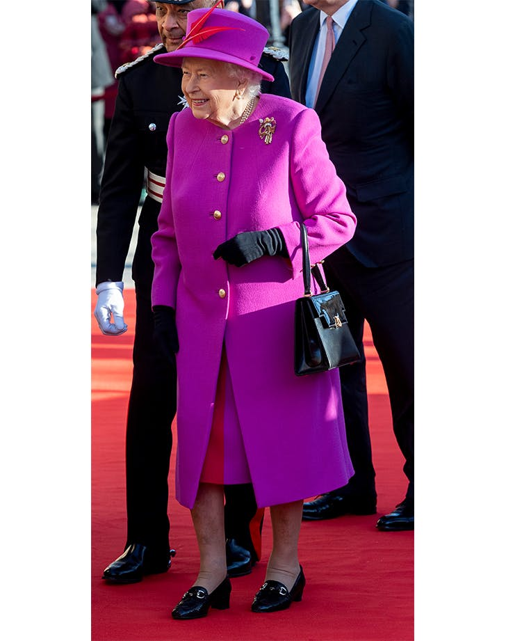 Queen Elizabeth Pulled an Elle Woods in a New Bright Pink Ensemble