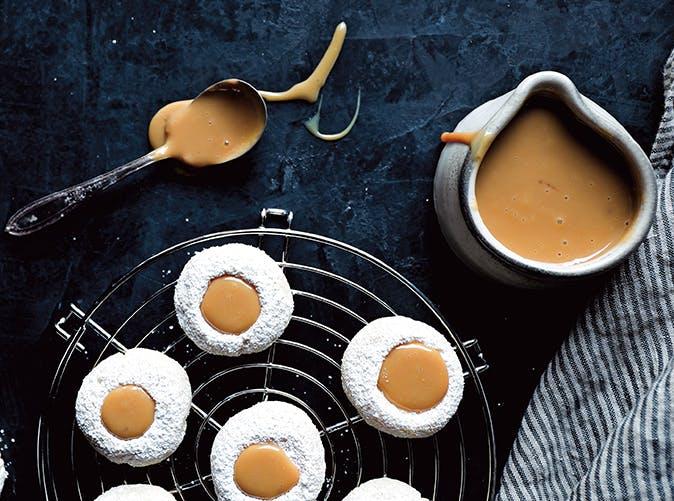 Vanilla Bean Thumbprint Cookies with Dulce de Leche
