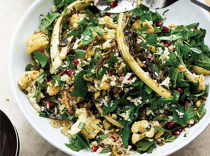 Yotam Ottolenghi Cauliflower Pomegranate Pistachio Salad Recipe