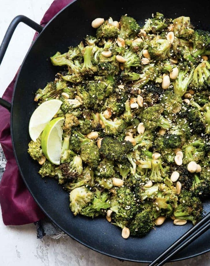 air fryer roasted asian broccoli recipe