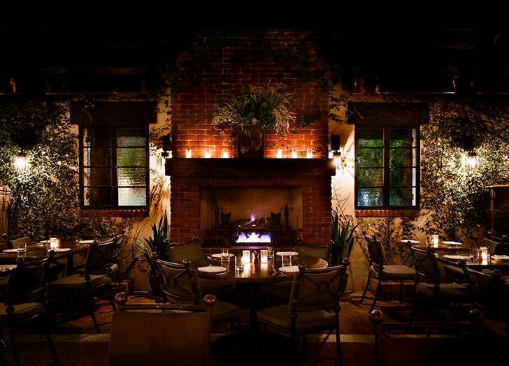 the coziest fireplace restaurants in los angeles ranked purewow rh purewow com fireplace los angeles county marble fireplace mantel los angeles