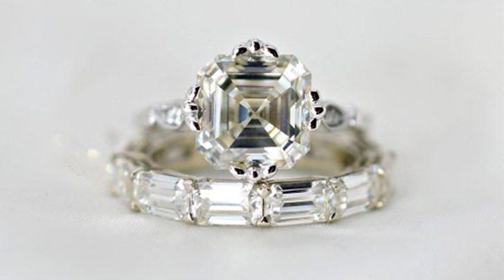This Retro Diamond Cut Is the Engagement Ring Trend Du Jour