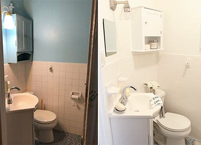 bathroom reno 200 dollars