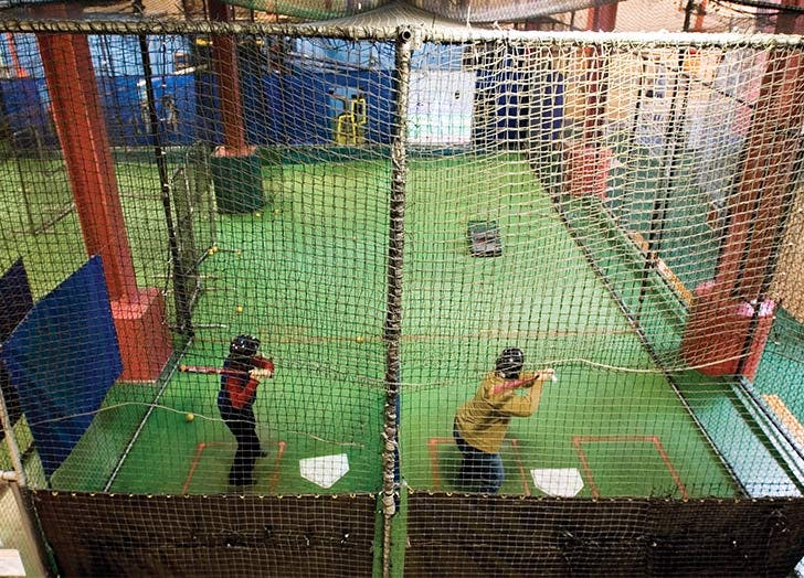 chelsea piers indoor batting cages