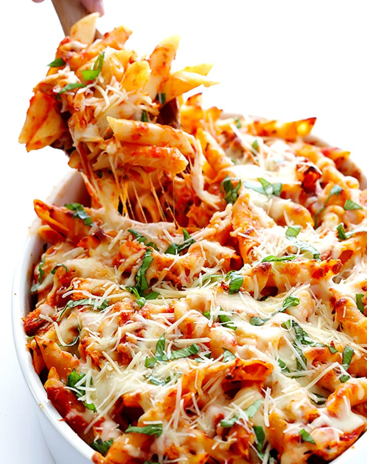 chicken parmesan based ziti recipe