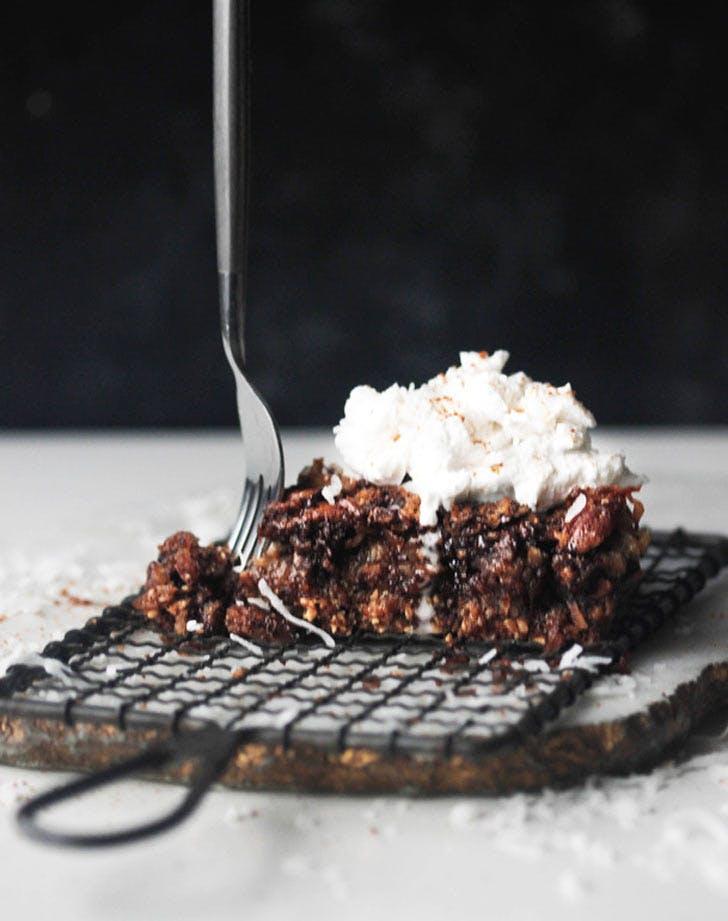 chocolate coconut pecan pie vegan