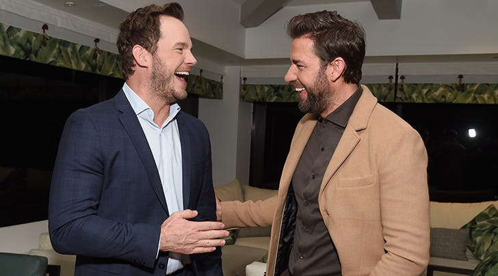 chris pratt john krasinski a quiet place screening