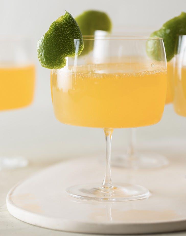citrus ginger champagne cocktail