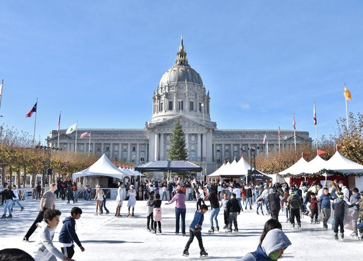 city hall ice skating sf