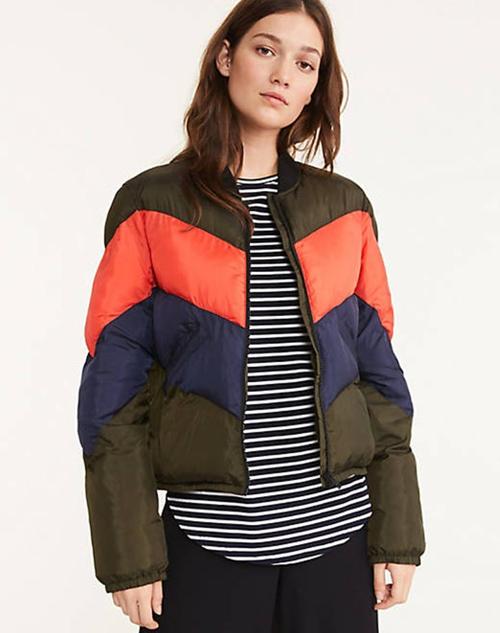 cropped puffer coat from lou and grey