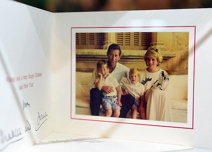 diana and charles christmas card 1987
