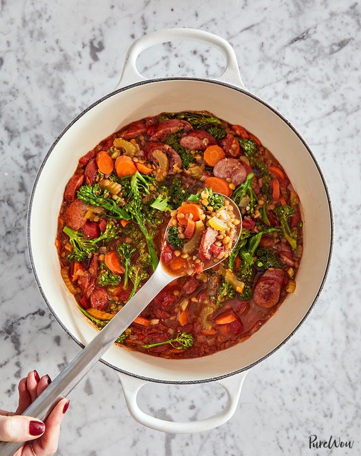 Easy One-Pot Lentil Kielbasa Soup