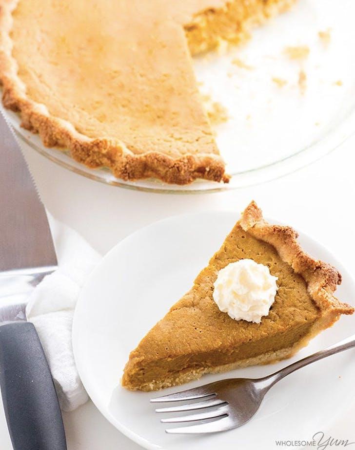 easy keto low carb pumpkin pie recipe