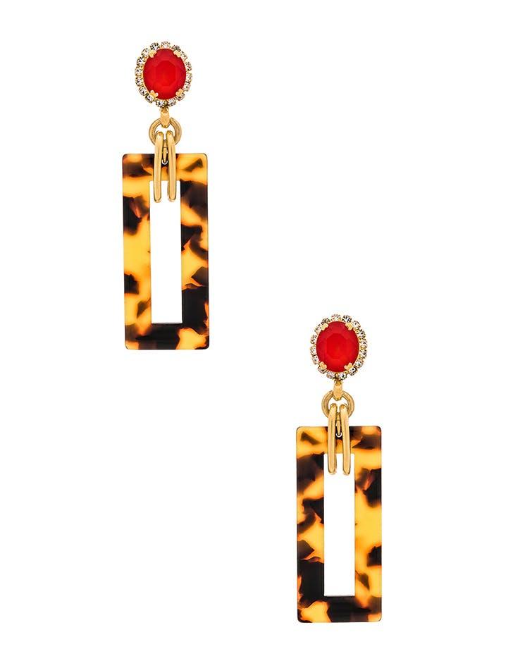 elizabeth cole tortoiseshell earrings