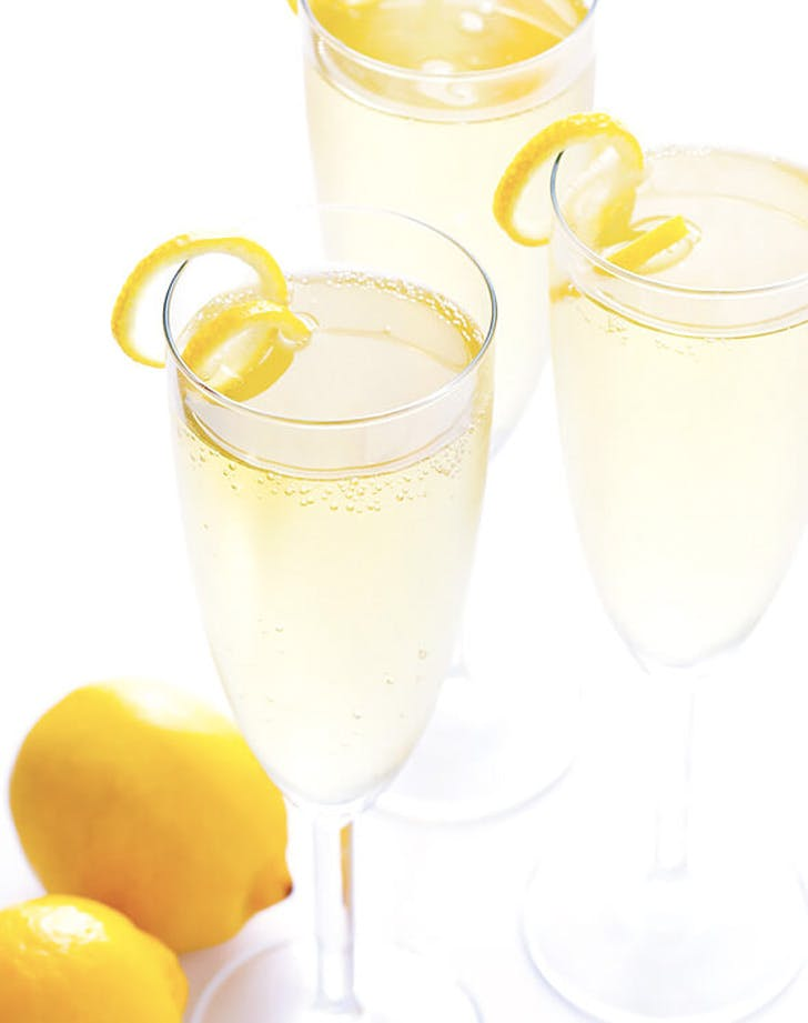 french 45 champagne cocktail
