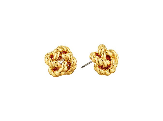 gold knot earrings