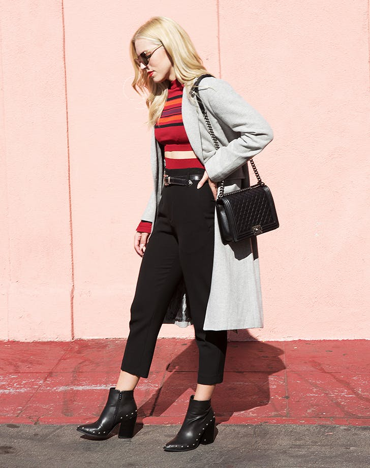 how to wear a cropped sweater january winter outfit ideas