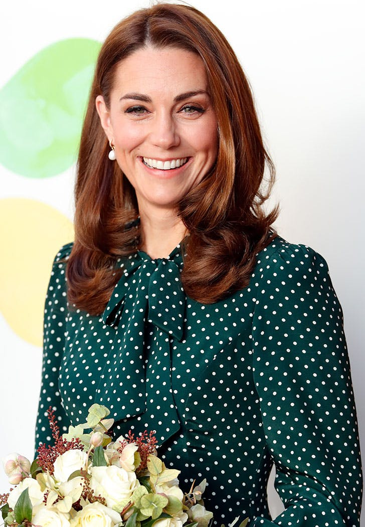 kate middleton bouquet polka dot dress
