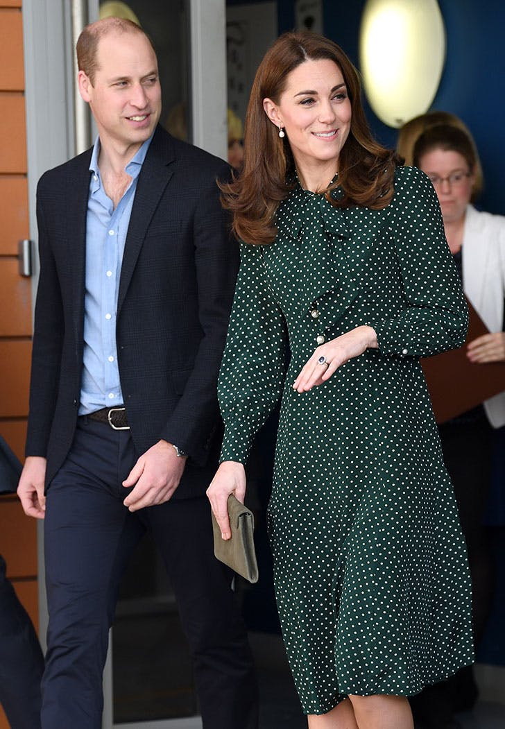 kate middleton prince william polka dot dress