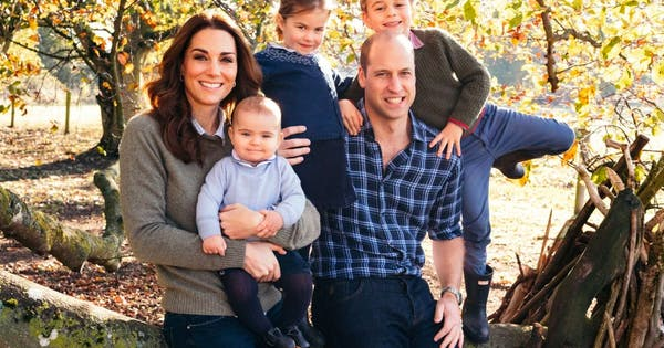 Kate Middleton and Prince William's Christmas Card Is Here, and Prince Louis Stuck to Royal Protocol