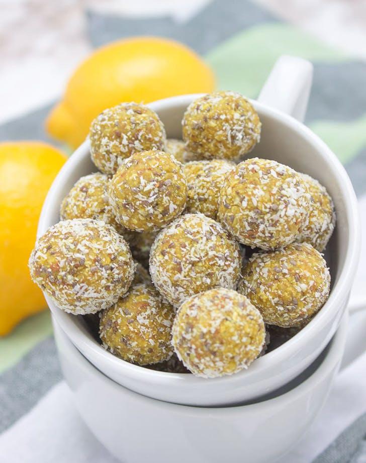 lemon turmeric energy balls recipe