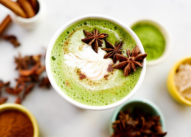 matcha spiced drink