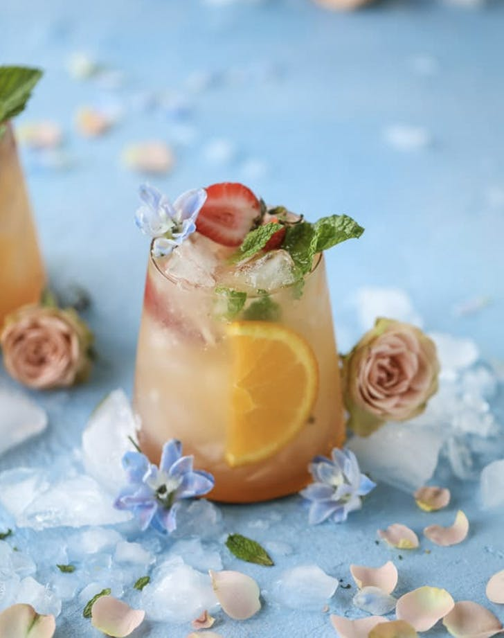 minted mimosa punch