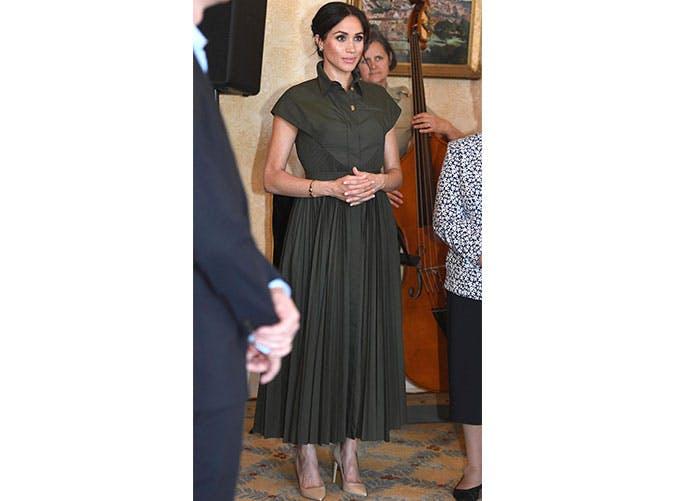 mm brandon maxwell olive dress